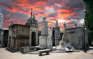 barrio de Recoleta y cementerio