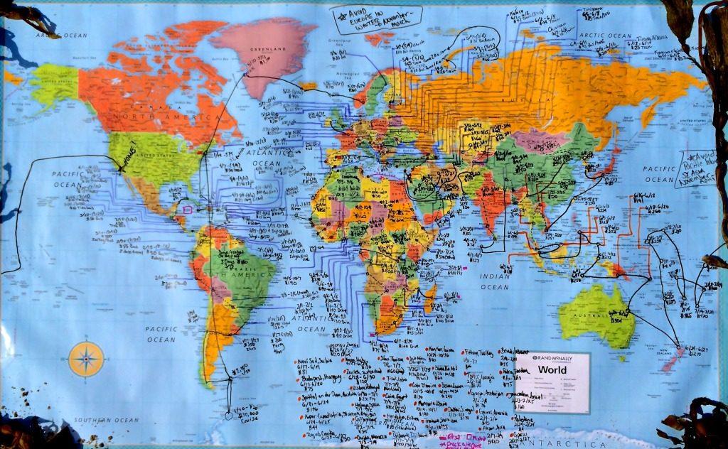 Cassandra de Pecol mapa del viaje