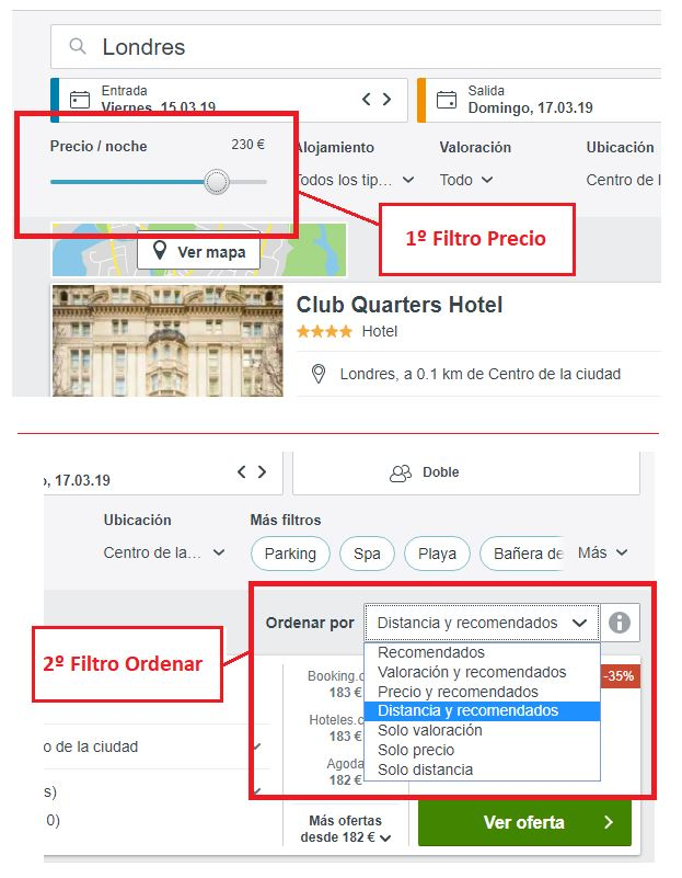 comparar precios hoteles trivago