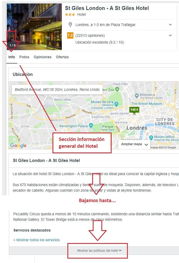 datos contacto de hoteles trivago
