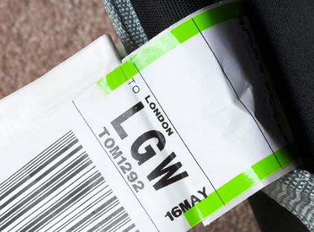 etiquetas de las maletas