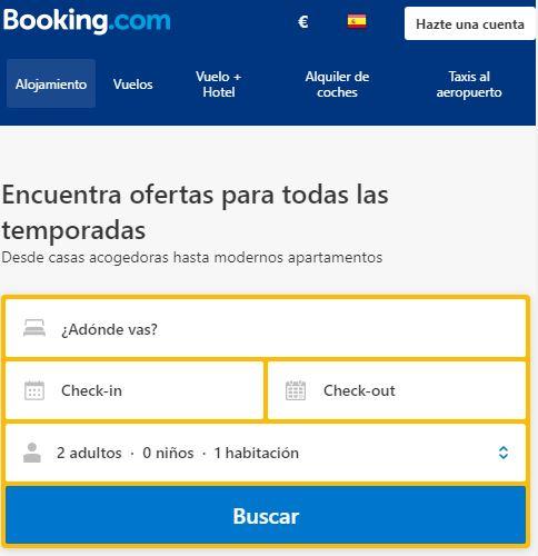 buscar hoteles con booking